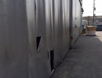 強風による倉庫建物損害
